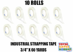 10 Rolls Uline Industrial Filament Strapping Tape 3 4 X 64 Yards Clear Packing