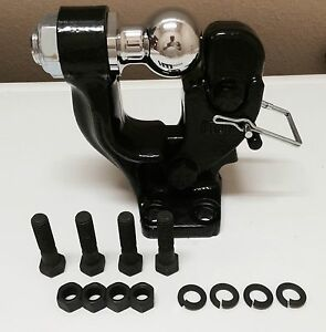 3 Ton Pintle Hook 2 Ball Combo Trailer Boat Hitch Towing Heavy Duty
