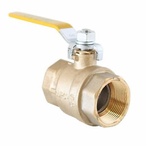 2 Inch Full Port Brass Ball Valve Lead Free Fip Threaded Ends Upc ul fm