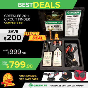 Greenlee 2011 00521 Finder Circuit Seeker Display Free Grinder Fast Ship
