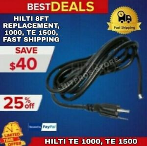 Hilti 8ft Replacement Cord For Te 1000 Te 1500 New Fast Shipping
