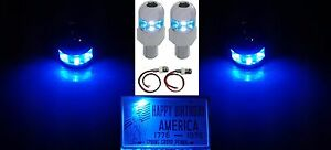 Pair Blue Led License Plate Light Fasteners Bolts Universal Car Truck Hot Rod