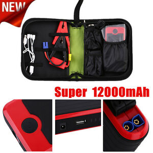 Real 12000mah Portable Auto Car Jump Starter Power Bank Battery Charger Booster
