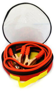 Med Duty12 Ft 200 Amp 10 Gauge Battery Power Jumper Booster Cable Wires W Case
