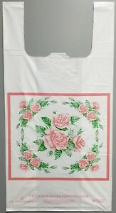 Free Shipping 100 Bags Size 17x8x30 1 1 Mil Rose T shirt Plastic Bags
