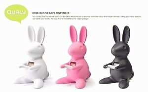 Qualy Bunny Rabbit Tape Dispenser Cute Home Living Office Desk Stationary
