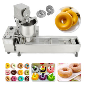 New Commercial Automatic Donut Making Machine wide Oil Tank 3sets Free Mold