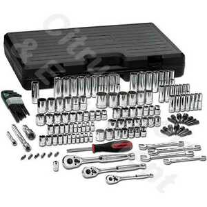 Gearwrench 80931 141 Pc 1 4 3 8 1 2 Dr 6 12 Pt Sae Metric Mechanics Tool Set