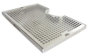 Kegco Seco 1610 16 X 10 Surface Mount Drip Tray 3 Cut out No Drain