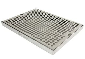 Kegco Sesm 129d Stainless Steel 12 X 9 Surface Mount Drip Tray With Drain