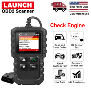 Obd2 Scanner Obdii Car Engine Check Mil Code Diagnostic Tool Launch Creader 3001