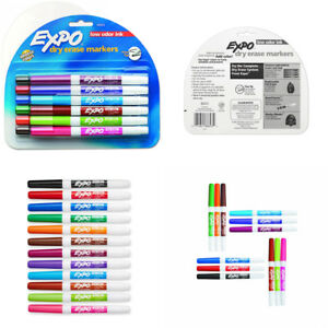 Expo 86603 Low Odor Dry Erase Marker Fine Point Assorted Pack Of 12