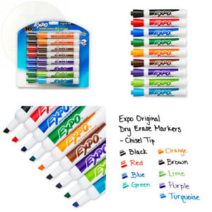 Expo Original Dry Erase Markers Chisel Tip Assorted Colors 16 count 16 pack