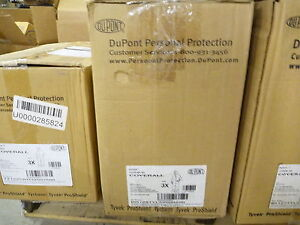 Dupont Tychem Br128tyl3x000200 Coverall W Hood And Boots Yellow Qty 1 Coveral