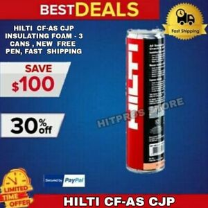 Hilti Cf as Cjp Insulating Foam 3 Cans New Free Pen Fast Shipping
