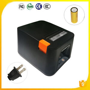 Usb Pos Receipt Thermal Printer With 80mm Paper Rolls High speed Printing