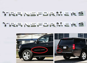 2x Oem Chrome Transformers Hero Emblem Badge Letter 3d Y For Jeep F150 Silverado