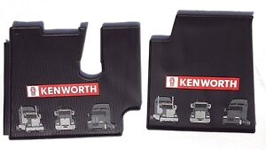 Kenworth Oem Black Rubber Floor Mats W Red Logo Fits 2005 17 T600 660 800 W900