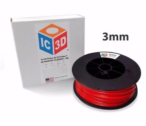 Ic3d 3mm 5lb 2 3kg Red Abs 3d Printer Filament Made In Usa