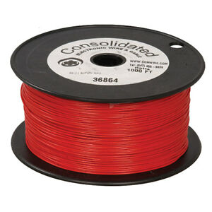 22 Awg Red Solid Tinned copper Hook up Wire 1000 Feet