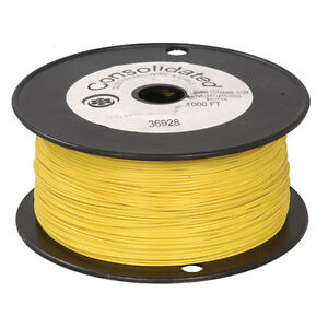 22 Awg Yellow Solid Tinned copper Hook up Wire 1000 Feet