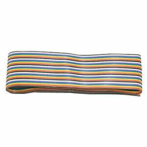 Cable Ribbon 10 Conductor Rainbow 28awg 100 Feet Flat