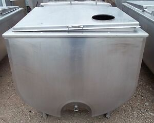 Sunset 300 Gallon Stainless Steel Flat Top Bulk Milk Tank 18mc182