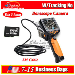 Video Inspection Camera 3m 3 9mm Borescope Endoscope 360 Rotate 3 5 W 8gb Hot