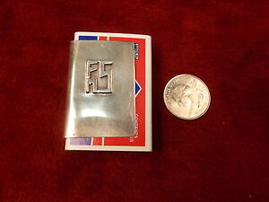 Nice Mid Century Modern Sterling Silver Fms Matchbox Holder Leonore Doskow