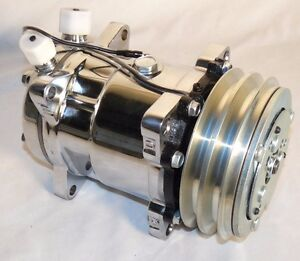Sanden 508 Ac Compressor V belt Chromed sliver Clutch One Year Warranty