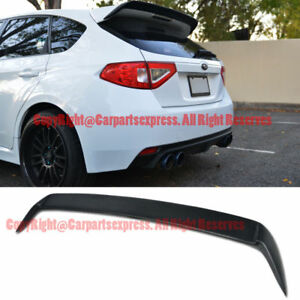 Rear Add On Spoiler Lip Wing Kit For 08 14 Subaru Impreza Sti 11 14 Wrx Hatch