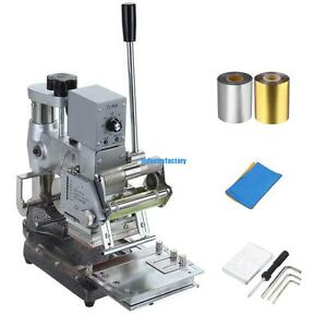 Manual Tipper Stamper Card Hot Foil Stamping Machine With 2 Roll Foil Paper 300w