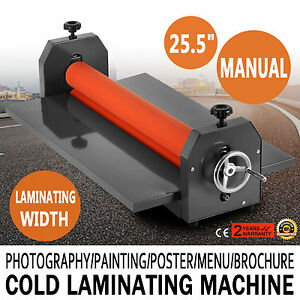 25 5 Manual Cold Laminator Laminating Machine Poster Fold up 4 Roller Top