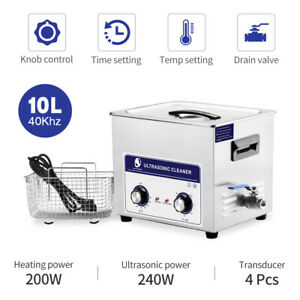 Skymen 2 64gal 10l Digital Ultrasonic Cleaner Solution Ultra Cleaning Machine