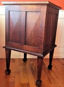 Rare Antique Arts Crafts Cupboard Cabinet Sidetable Quartersawn Oak Gold Fleck
