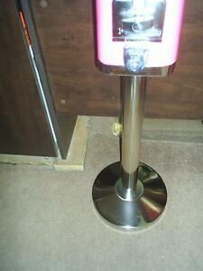 Best Gumball Stand Made Today Polished Stainless Steel Looklike Chrome New Stock