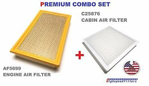 Combo Air Filter Cabin Air Filter Set For 2007 2014 Ford Edge Af5699 C25876