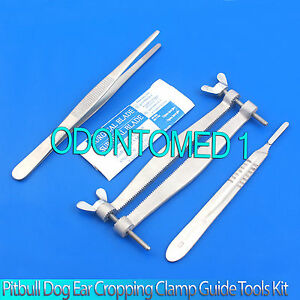 Pitbull Dog Ear Cropping Clamp Guide Tools Kit Veterinary Instruments Vt 101
