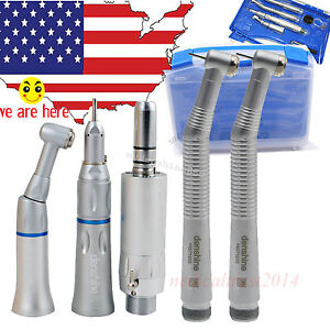 2019 Denshine Dental 2pcs 2h High Speed Low Speed Handpiece Kit 2 Holes E ty