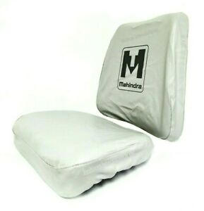 Mahindra Tractor Seat Cover Gray big Back Rest