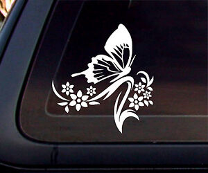 Butterfly Flower Car Decal Sticker