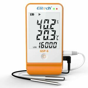Elitech Gsp 6 Temperature Humidity Data Logger Recorder Refrigerator Cold Chain