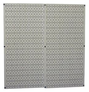 Tools Pegboard Gray Metal 2 Boards Storage Pegs Organizer Garage Wall Control