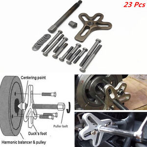 23pcs Portable Car Harmonic Balancer Puller Steering Wheel Gear Crankshaft Tool