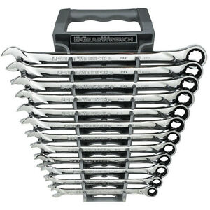 Gearwrench 85098 12 Piece Metric Xl Combination Ratcheting Wrench Set Freeship