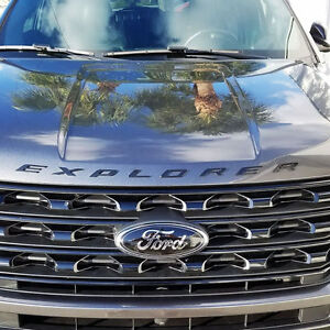 New Ford Licensed 2011 2017 Ford Explorer Sport Matte Black Hood Letters Emblem
