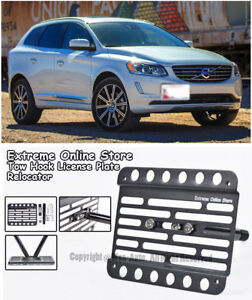 Eos For 08 up Volvo Xc70 Front Bumper Tow Hook License Plate Bracket Holder
