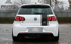 Vw Gti Volkswagon 5 W Duel 1 2 Racing Stripe Roll 20 3m Decal Sticker Graphic