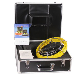 30m 98ft Sewer Pipe Waterproof Camera Pipeline Drain Inspection System 7 mon