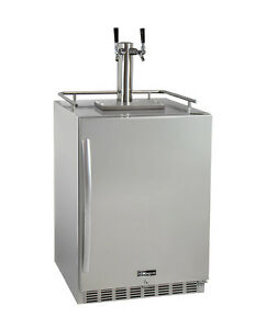 Kegco Hk38ssu 2 2 tap Outdoor Built in Kegerator W premium Dispense Kit
